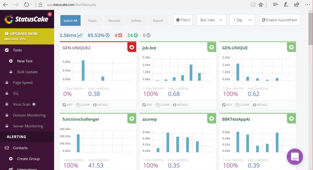 statuscake monitoring